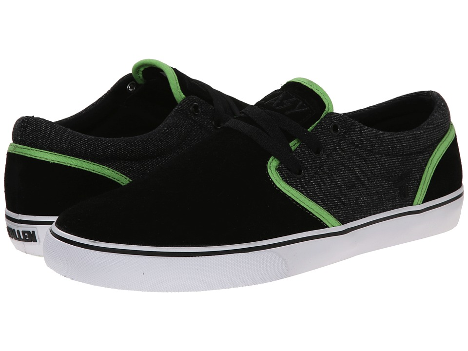 Fallen - The Easy (Black/Psych Green) Men's Skate Shoes