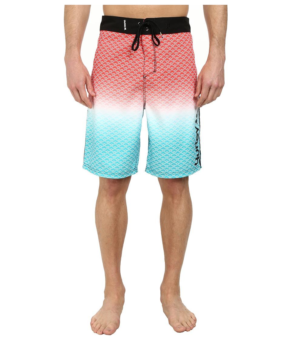 Hurley - Scallops 21 Boardshort (Hot Red) Men's Swimwear