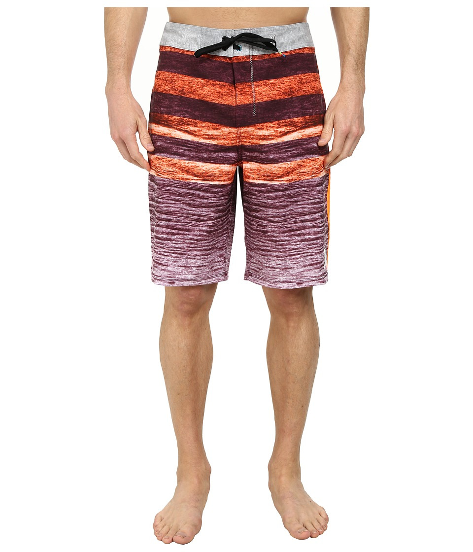 Hurley - Phantom Ripple 21 Boardshort (Total Orange) Men's Swimwear