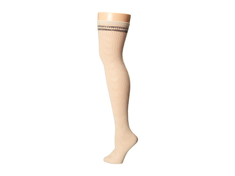 Free People - Shine A Light Thigh High (Ivory Combo) Women's Thigh High Socks Shoes