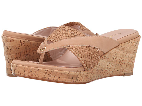 Taryn Rose - Kijani (Beige Woven Elastic/Nabuck Soft) Women's Shoes