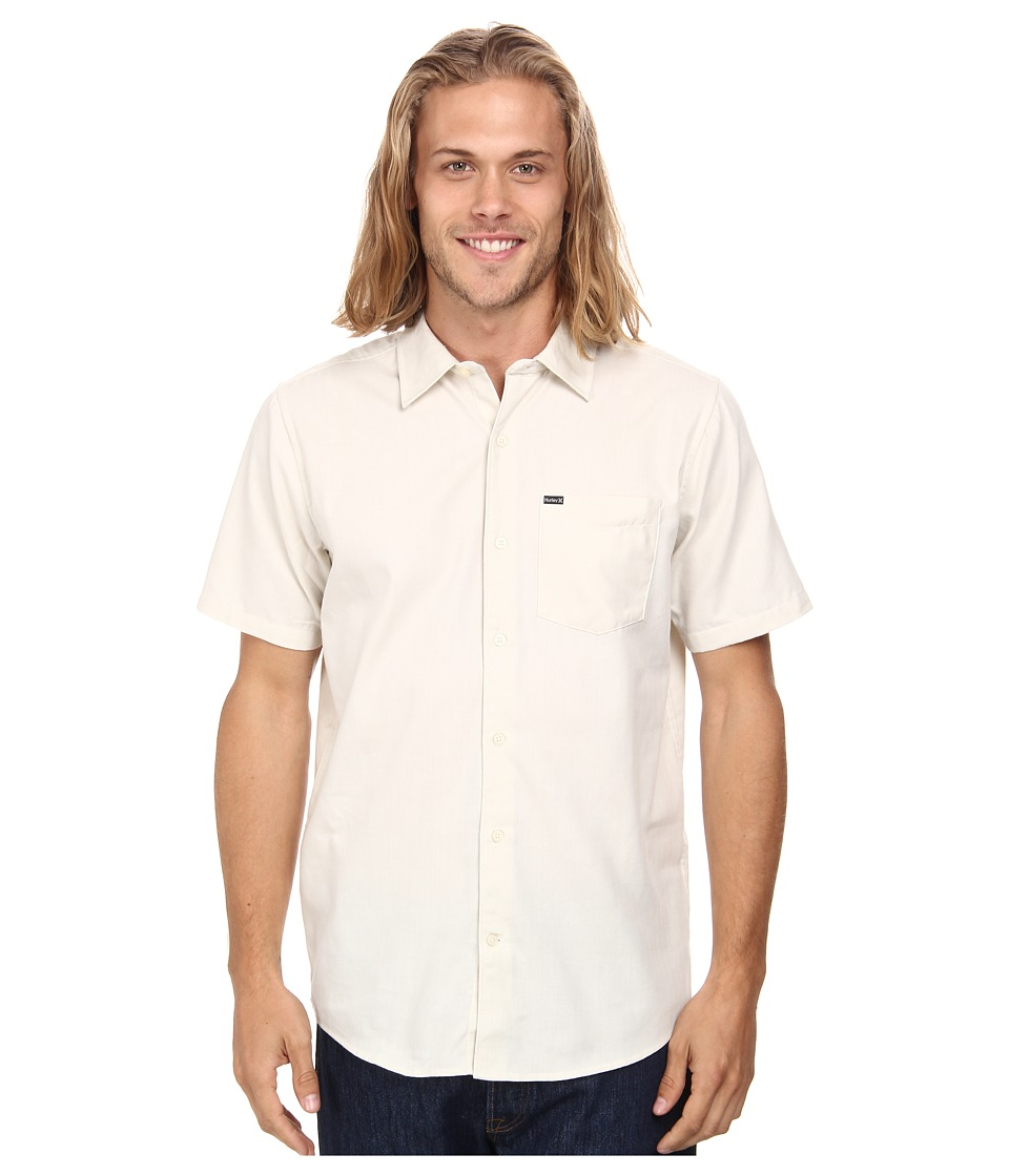 Hurley - One And Only 2.0 S/S Woven (Light Bone) Men's Short Sleeve Button Up