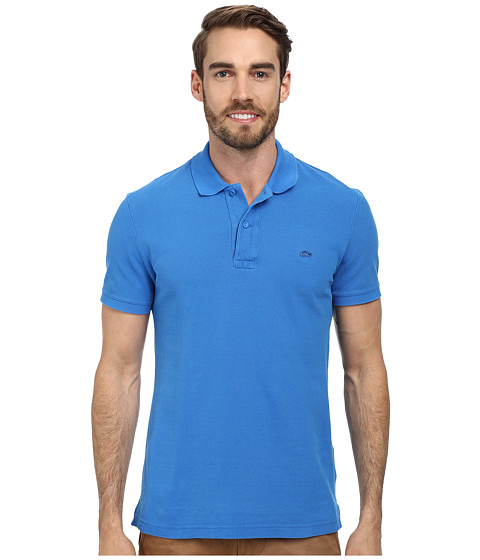 89b7f692 UPC 886619449641 product image for Lacoste Short Sleeve Vintage Washed Polo  with Woven Trim (West