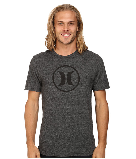 Hurley - Icon Tri-Blend Tee (Grey Black) Men's T Shirt