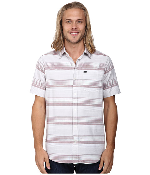 Hurley - Troop S/S Woven (Light Bone) Men's Clothing