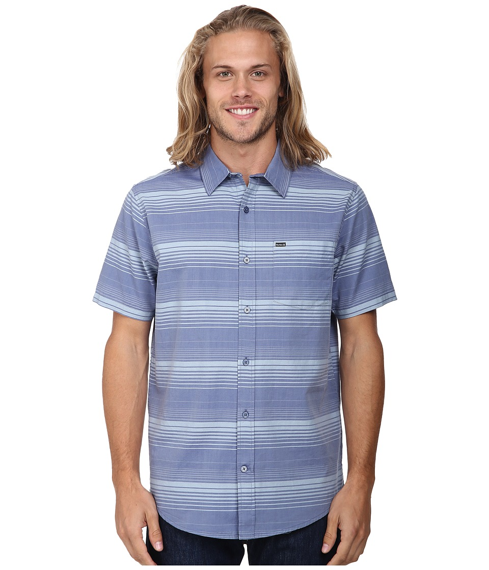 Hurley - Troop S/S Woven (Cool Blue) Men's Clothing