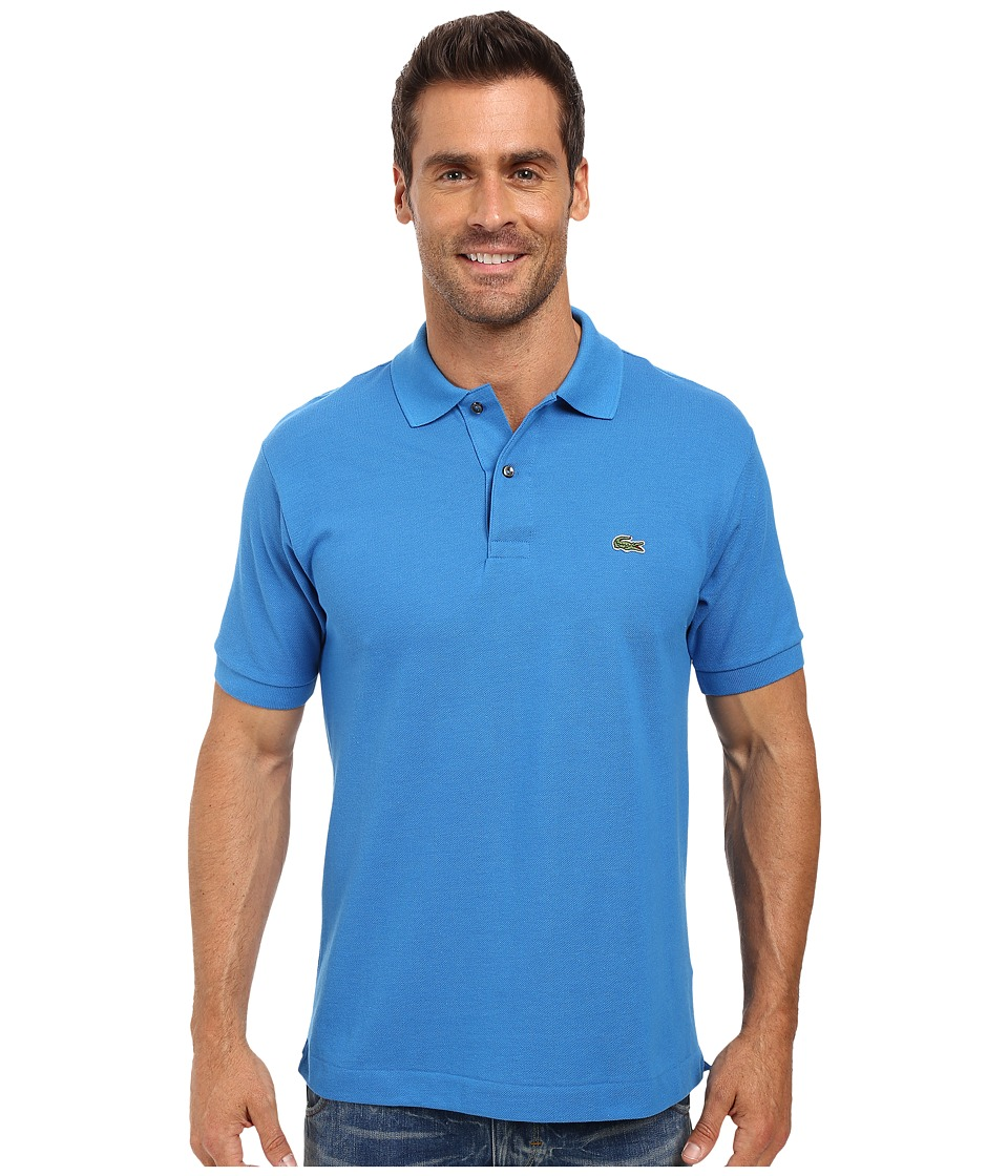 Lacoste - L1212 Classic Pique Polo Shirt (West Indies Blue) Men's Short Sleeve Knit