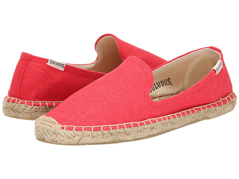 Soludos - Smoking Slipper Linen (Coral) Women