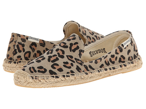 Soludos - Smoking Slipper Prints (Leopard) Women's Slip on Shoes