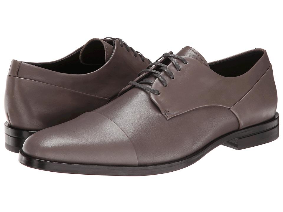 Calvin Klein - Kipp (Pewter Leather) Men's Lace Up Cap Toe Shoes