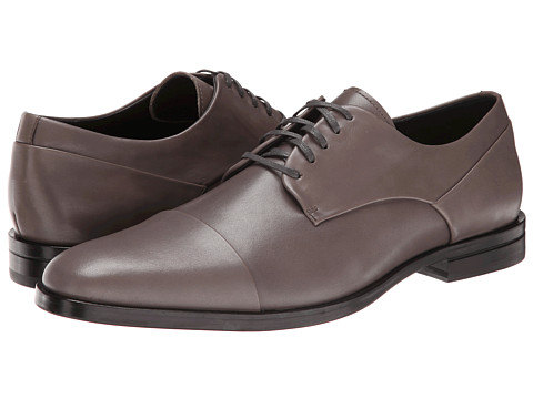 Calvin Klein - Kipp (Pewter Leather) Men's Lace Up Cap Toe Shoes