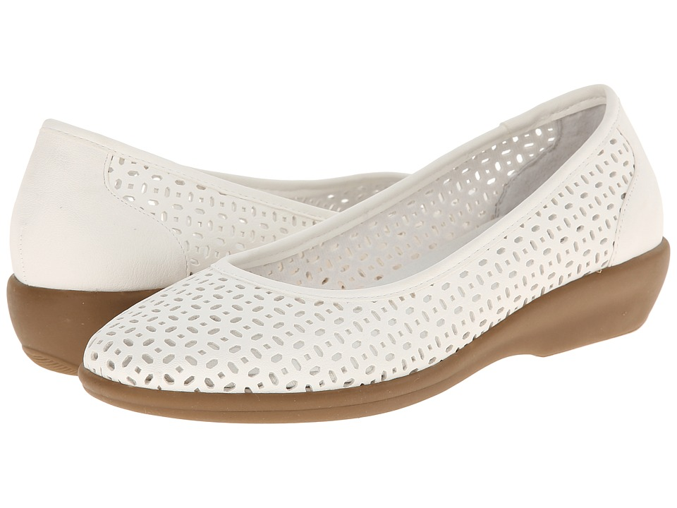Bass - Broadway (White Nubuck) Women's Sandals