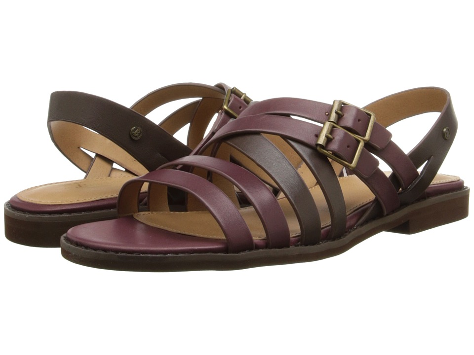 Bass - Amidy (Oxblood/Cocoa Atanado Leather) Women's Sandals