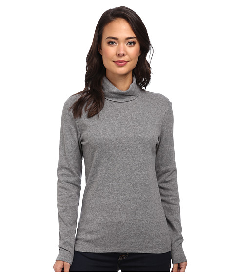 Jones New York - Long Sleeve Turtleneck (Medium Grey Heather) Women's T Shirt