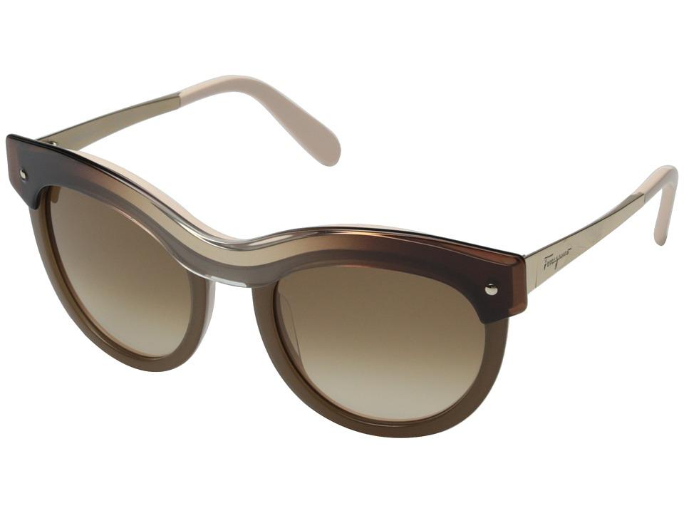 Salvatore Ferragamo - SF774S (Beige Gradient) Fashion Sunglasses