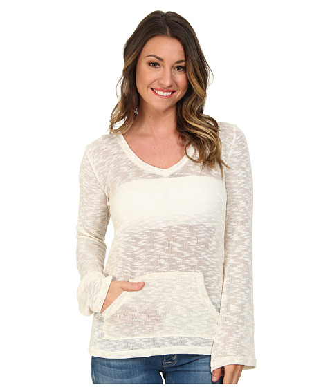 Volcom - Go Go Go V-Neck (Cream) Women's Long Sleeve Pullover