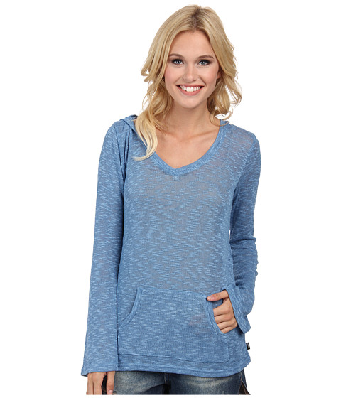Volcom - Go Go Go V-Neck (Sandy Indigo) Women's Long Sleeve Pullover