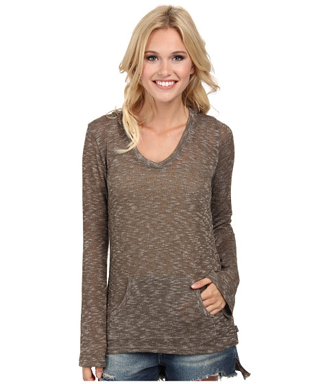 Volcom - Go Go Go V-Neck (Hazelnut) Women's Long Sleeve Pullover