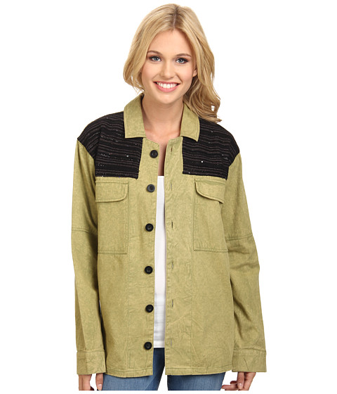 Volcom - Glam Slam L/S Shirt Jacket (Fern) Women