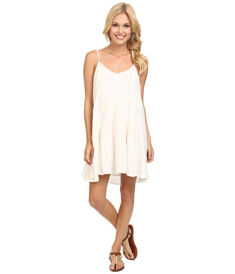 Volcom - Straight Laced Dress (Cream) Women's Dress