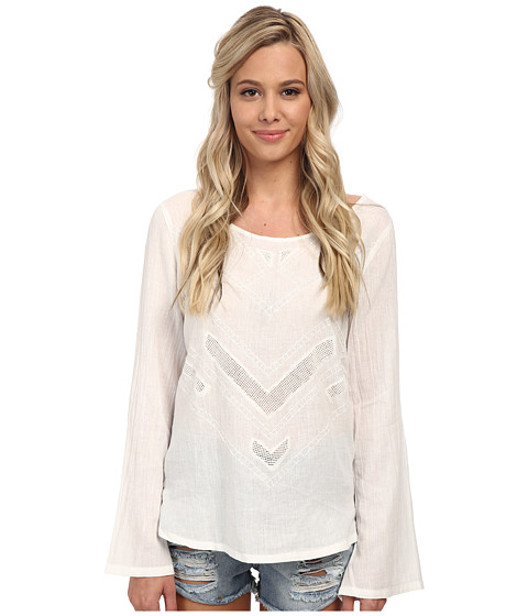 Volcom - Bangalow Top (White) Women's Long Sleeve Pullover