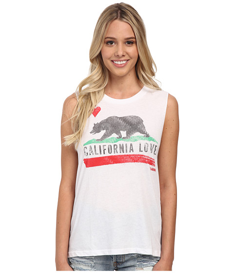 Billabong - Bears Republic Tank Top (White) Women's Sleeveless