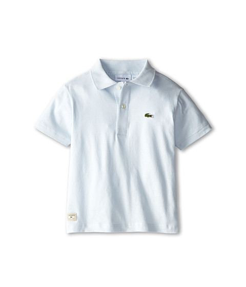 Lacoste Kids - S/S Solid Jersey Polo (Toddler/Little Kids/Big Kids) (Origami Blue) Boy's Short Sleeve Pullover