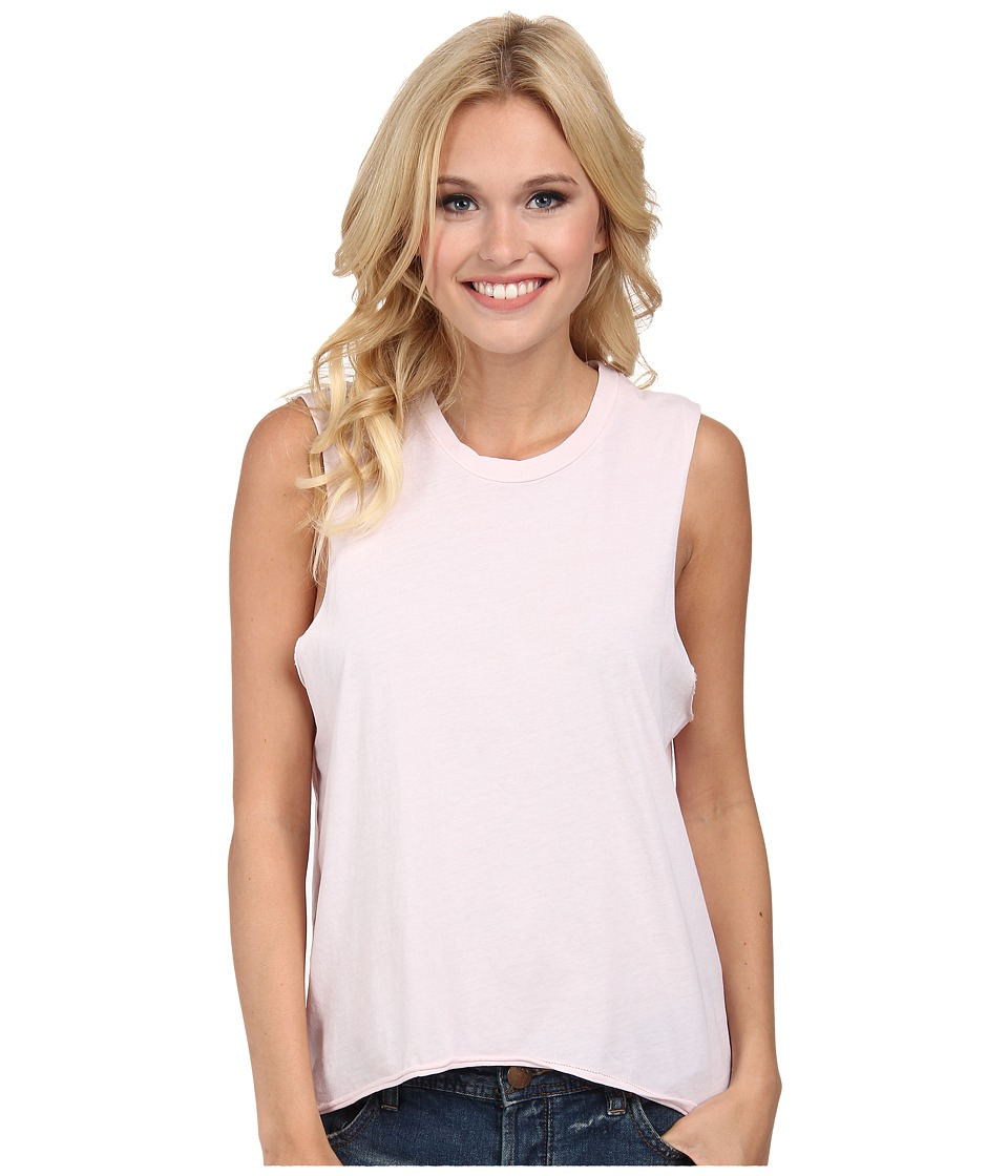 Volcom - Lived In O/D Muscle Tee (Barely Pink) Women