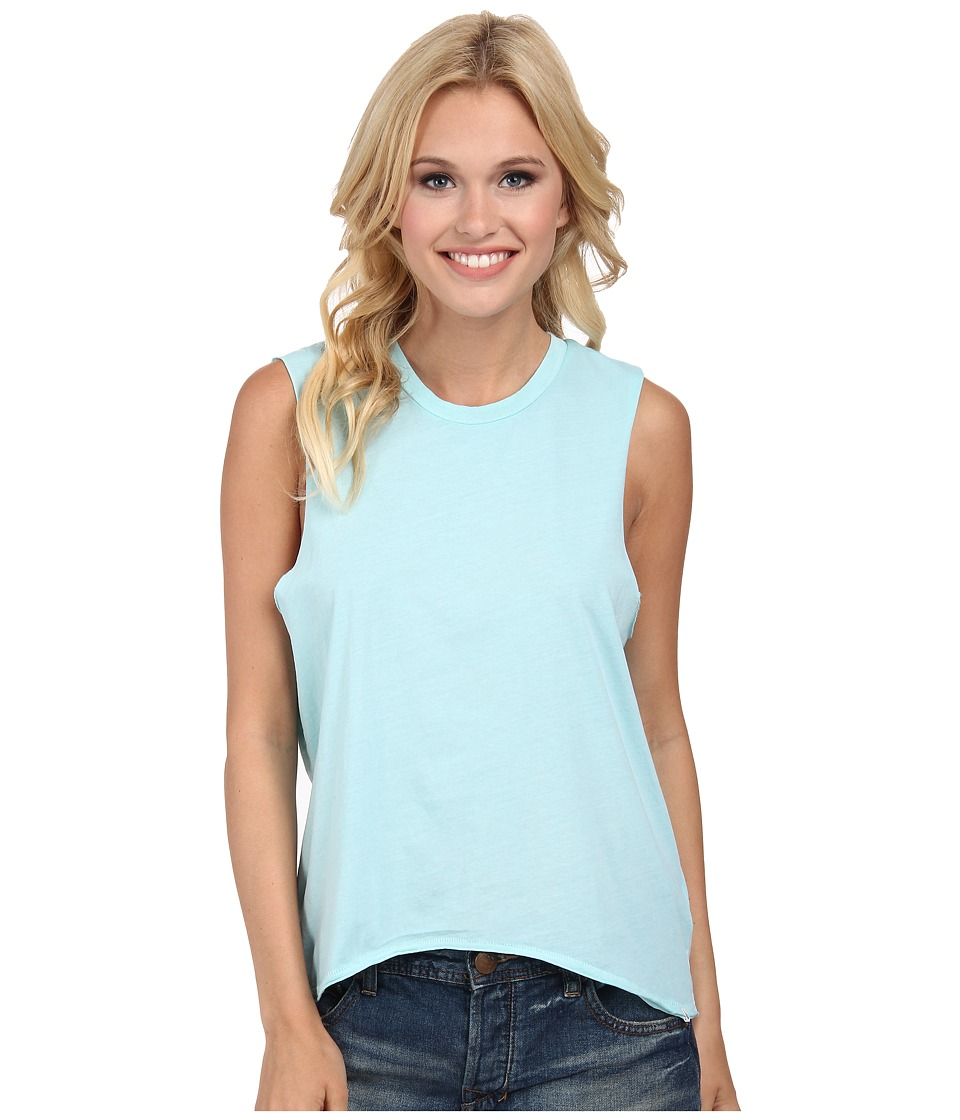 Volcom - Lived In O/D Muscle Tee (Coastal Blue) Women