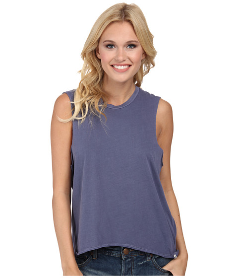 Volcom - Lived In O/D Muscle Tee (Vintage Navy) Women