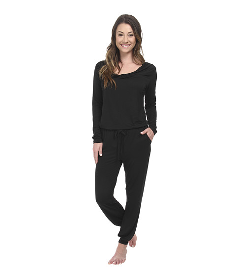 Calvin Klein Underwear - Modal Edge Jumpsuit (Black) Women's Jumpsuit & Rompers One Piece