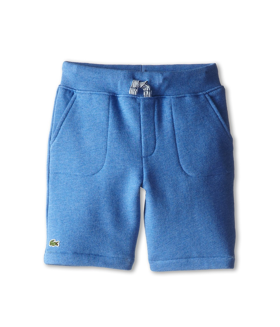 Lacoste Kids - Knit Chine Fleece Short (Toddler/Little Kids/Big Kids) (Plongeon Chine) Boy's Shorts