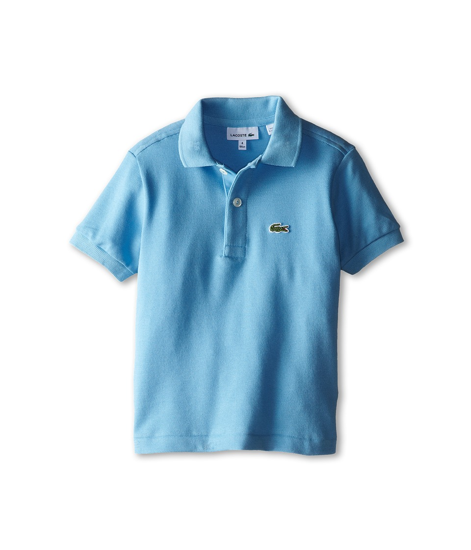 Lacoste Kids - Short Sleeve Classic Pique Polo Shirt (Toddler/Little Kids/Big Kids) (Naval Blue) Boy's Short Sleeve Pullover
