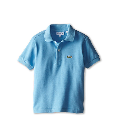 Lacoste Kids - Short Sleeve Classic Pique Polo Shirt (Toddler/Little Kids/Big Kids) (Naval Blue) Boy