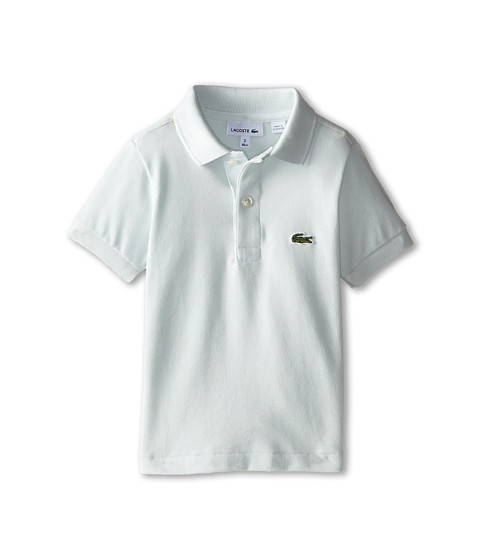 Lacoste Kids - Short Sleeve Classic Pique Polo Shirt (Toddler/Little Kids/Big Kids) (Greenstone Grey) Boy's Short Sleeve Pullover