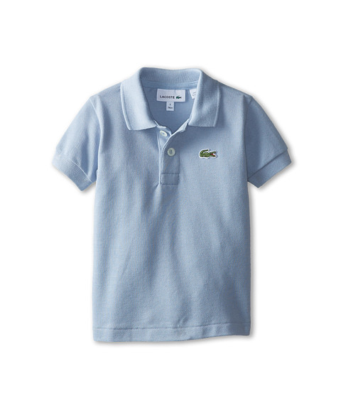 Lacoste Kids - Short Sleeve Classic Pique Polo Shirt (Toddler/Little Kids/Big Kids) (Fuji) Boy's Short Sleeve Pullover