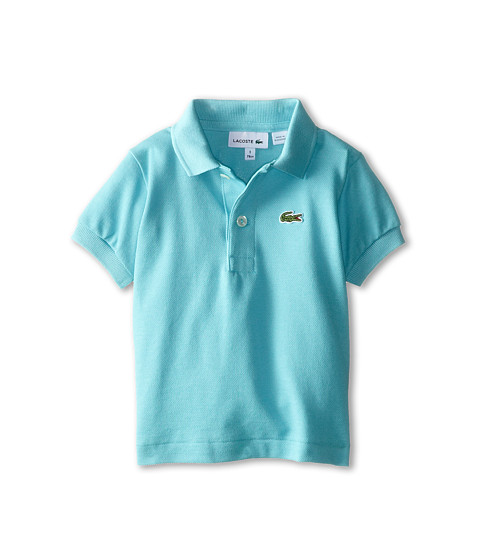 Lacoste Kids - Short Sleeve Classic Pique Polo Shirt (Toddler/Little Kids/Big Kids) (Corsica Aqua) Boy's Short Sleeve Pullover