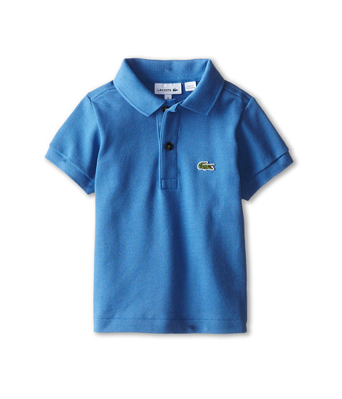 Lacoste Kids - Short Sleeve Classic Pique Polo Shirt (Toddler/Little Kids/Big Kids) (Wave Blue) Boy's Short Sleeve Pullover