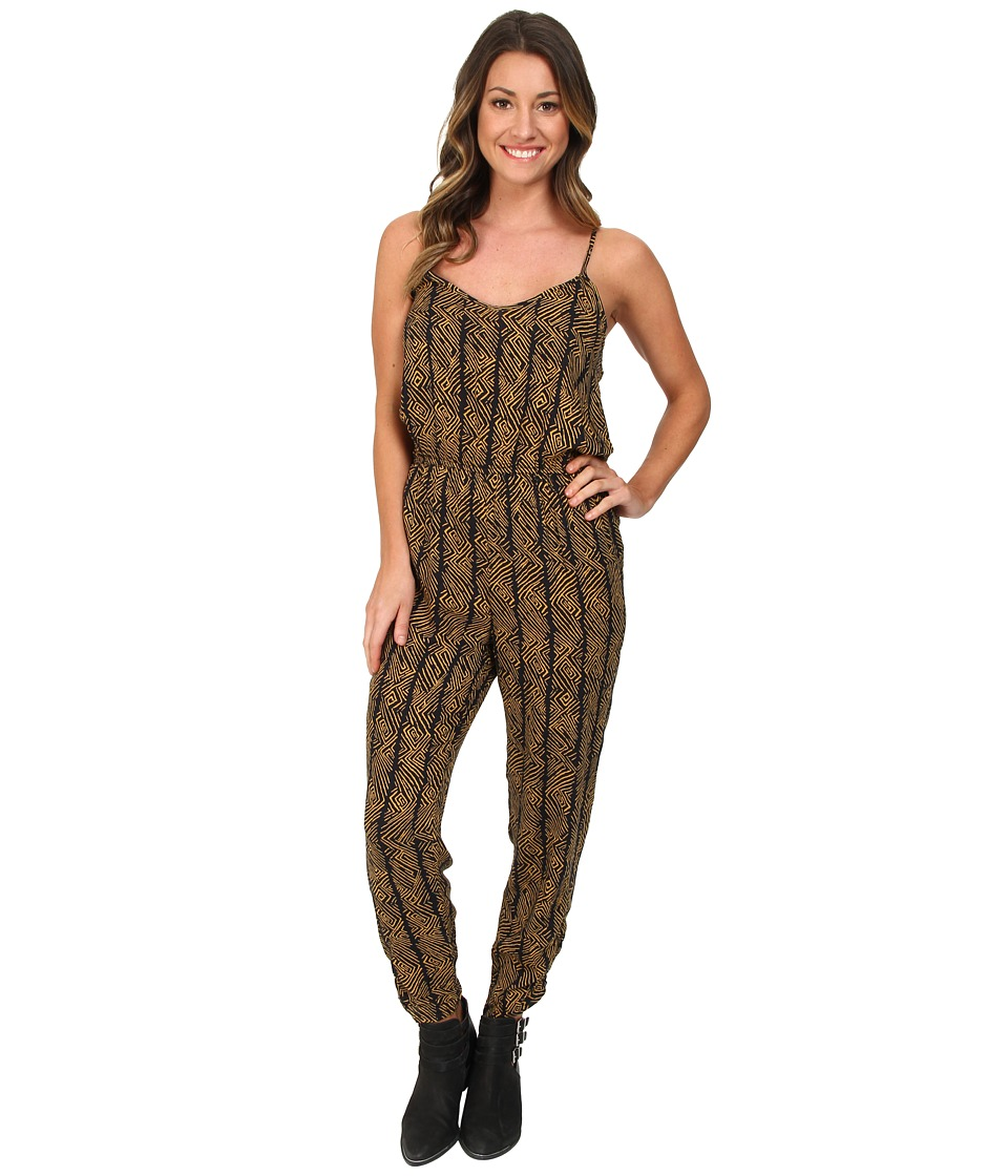 Volcom - Backlash Jumpsuit (Spice Gold) Women's Jumpsuit & Rompers One Piece
