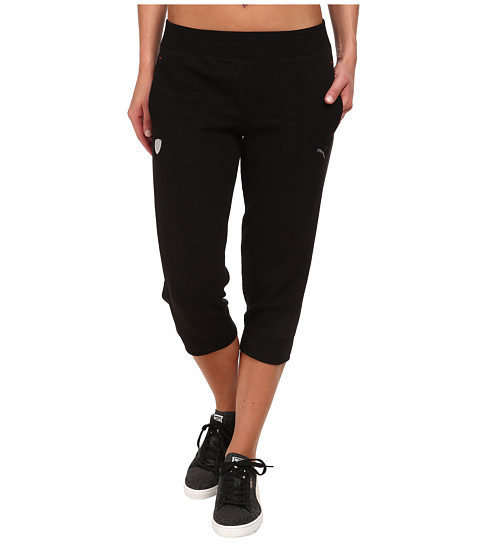 PUMA - Ferrari 3/4 Sweat Pants (Black) Women's Casual Pants