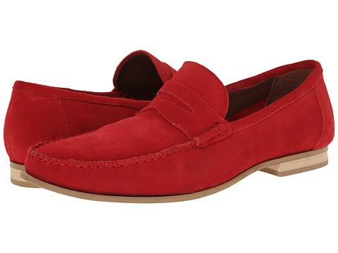 Fitzwell - Kimo (Red Suede) Men's Flat Shoes