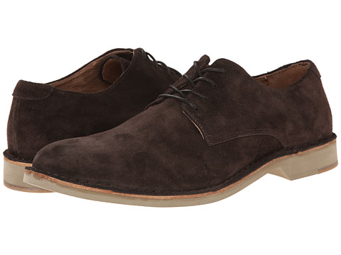 Fitzwell - Plano (Dark Brown Suede) Men's Lace up casual Shoes