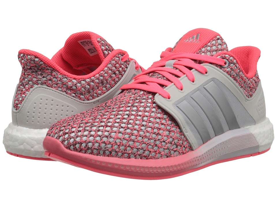 adidas Running - Solar Boost (Pearl Grey/Silver Metallic/Light Flash Orange) Women's Running Shoes