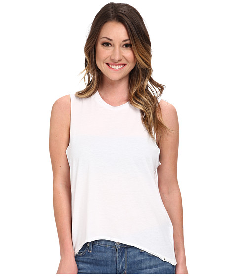 Volcom - Lived In O/D Muscle Tee (White) Women's T Shirt
