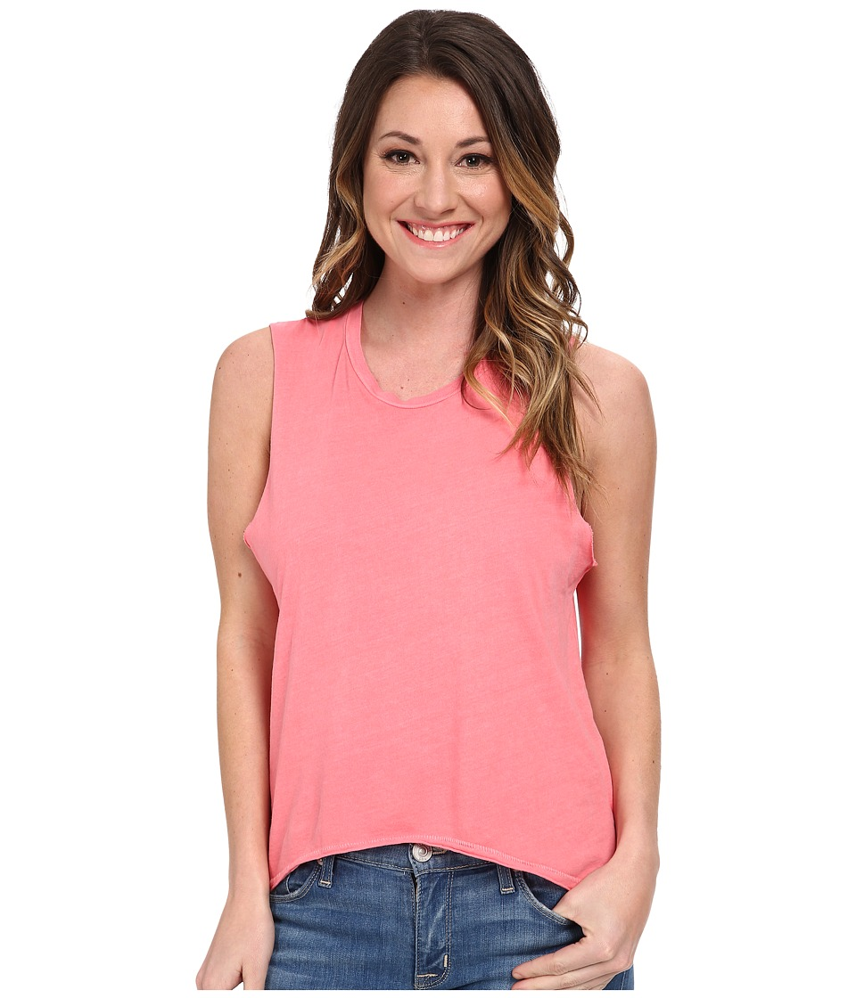 Volcom - Lived In O/D Muscle Tee (Electric Coral) Women