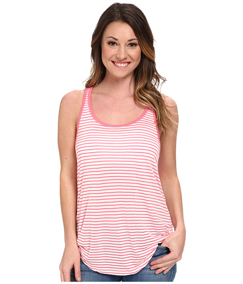Volcom - Lived in Stripe Racer Top (Electric Coral) Women