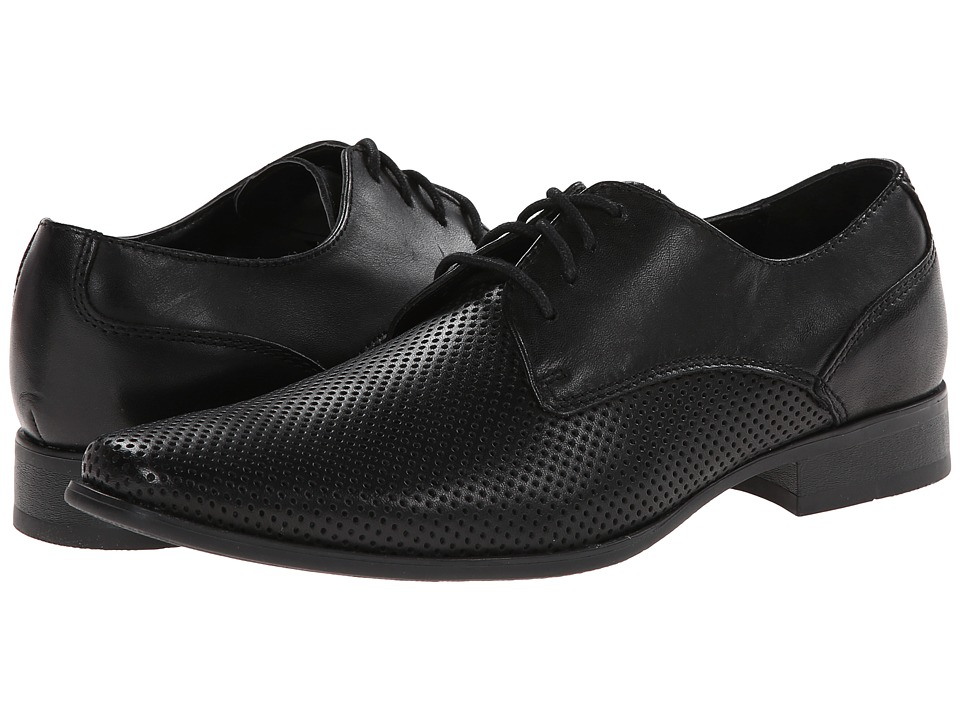 Calvin Klein - Brodie Perforated Leather (Black) Men's Shoes