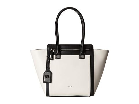 LAUREN by Ralph Lauren - Ashford Tote (Vanilla/Black) Tote Handbags