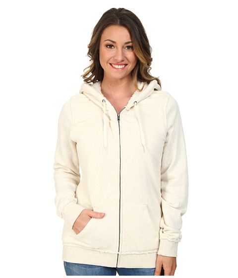 Volcom - Lived In Sherpa Hoodie (Oatmeal) Women's Sweatshirt
