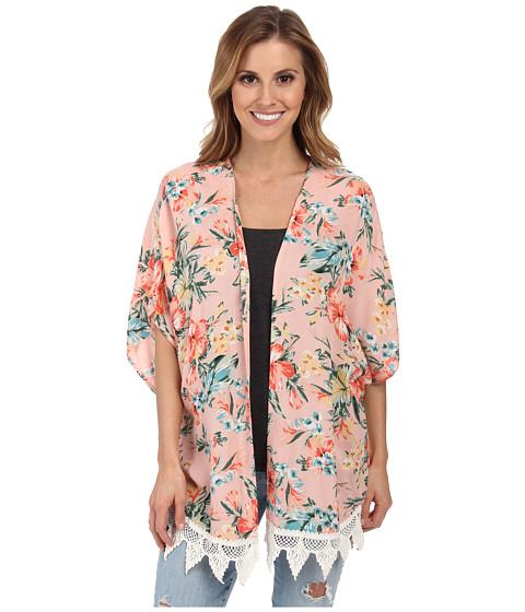 Rip Curl - Paradise Found Kimono (Peach) Women's Blouse